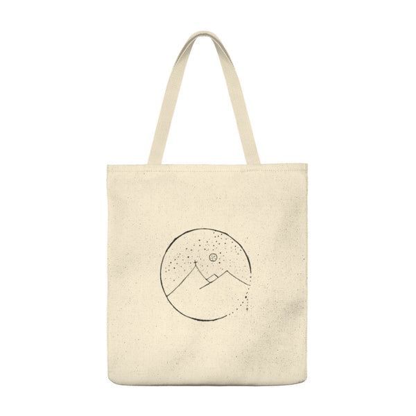 Roomy Tote Bag with Cross Mountain Scene