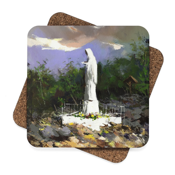 Queen of Peace Hardboard Coaster - 4pcs