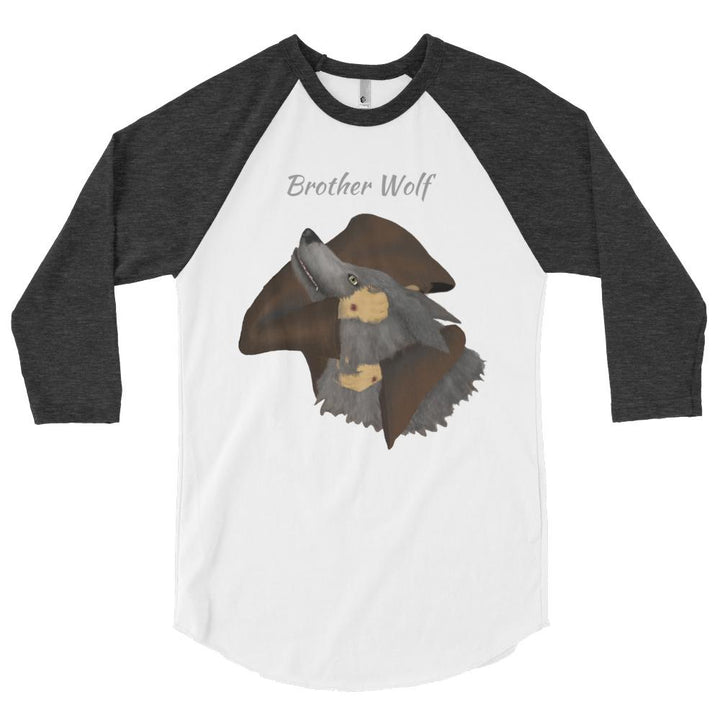 Brother Wolf Embrace 3/4 sleeve raglan shirt