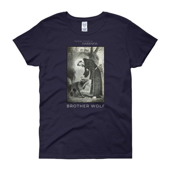 St. Francis Brother Wolf Women's T-Shirt