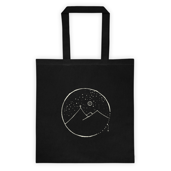Cross Mountain Scene Tote Bag