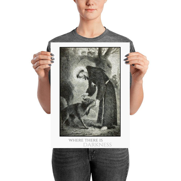 St. Francis and Wolf Poster