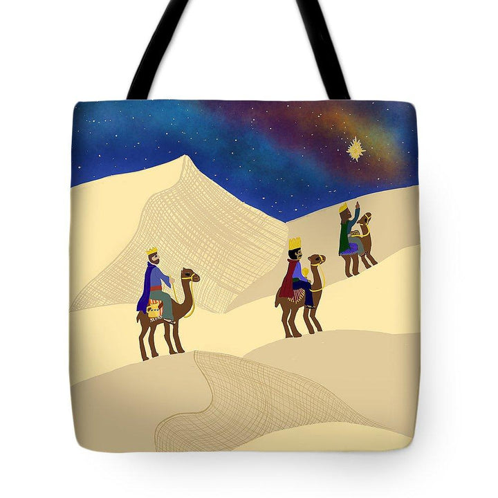 Three Wisemen On A Journey - Tote Bag