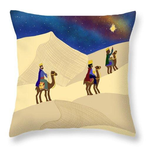 Three Wisemen On A Journey - Throw Pillow