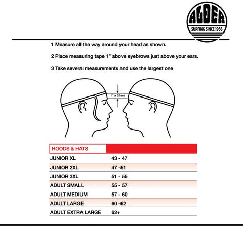 hood size guide