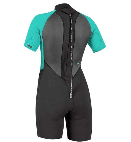 O'Neill Womens Reactor II 2mm Back Zip Shortie Wetsuit
