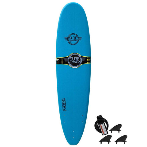 Surfworx Hellcat 7'6ft Mini Mal Soft Surfboard