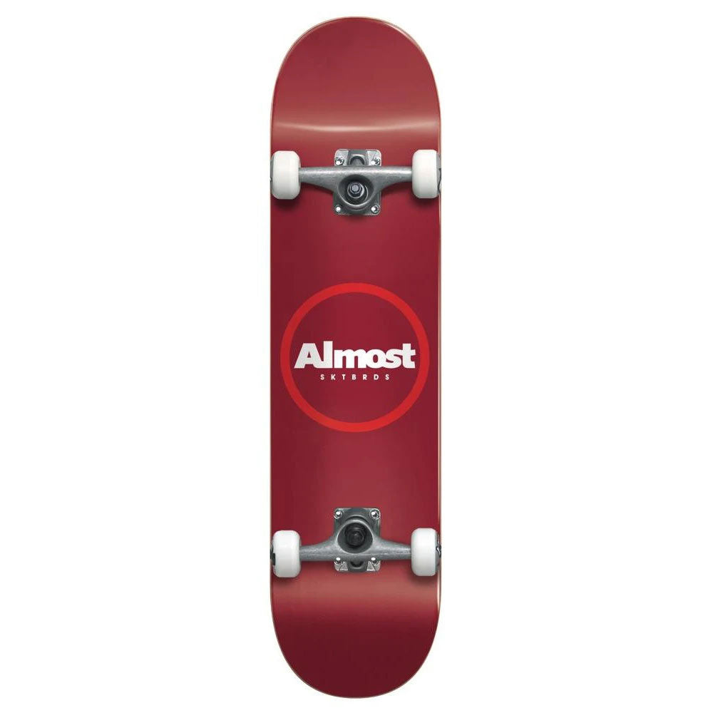 Almost Red Ringer Youth 7.25 Complete Skateboard - Red