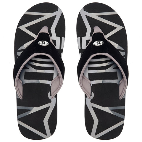 Animal Bazil Logo Flip Flops  - Black