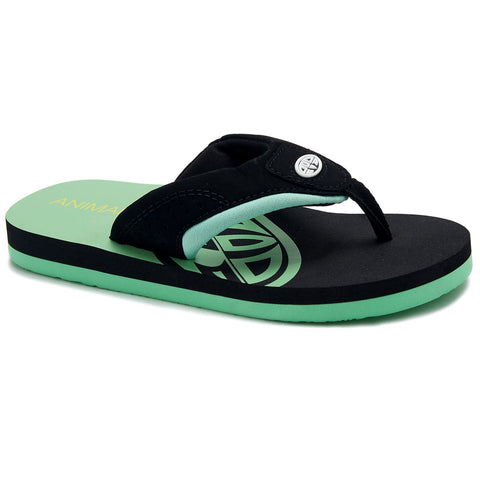 Animal Boys Jekyl Slice Flip Flops   - Black