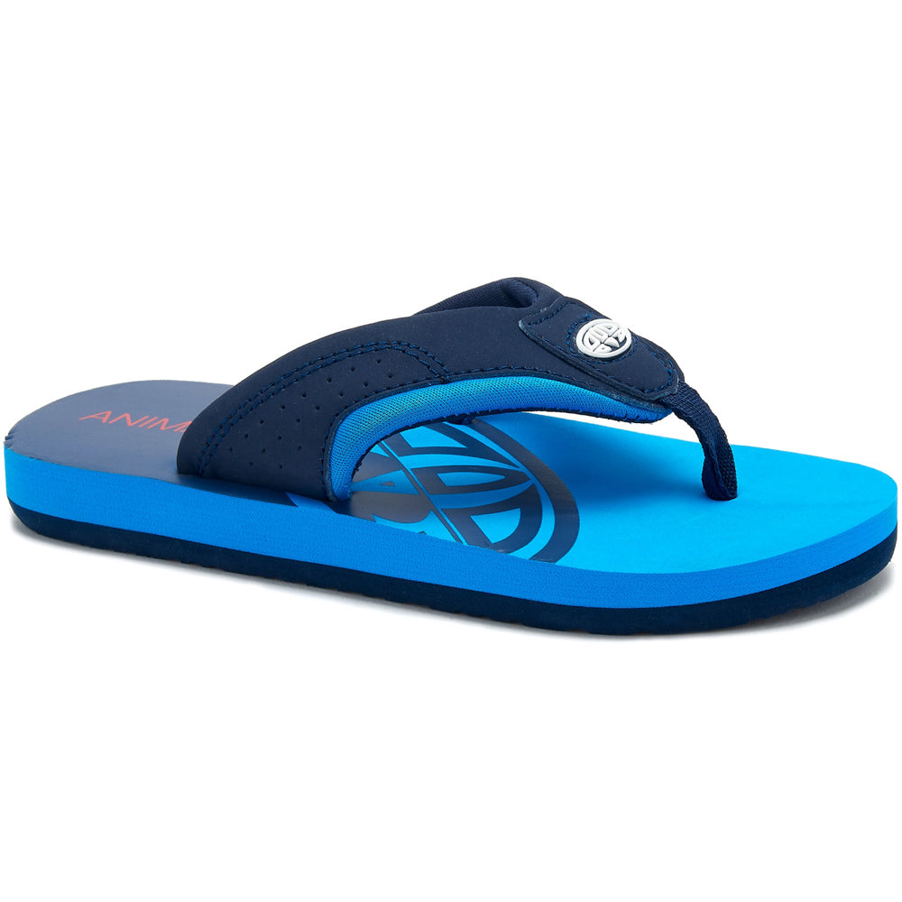 Animal Boys Jekyl Slice Flip Flops   - Indigo Blue