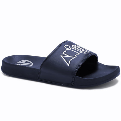 Animal Slyde Sandal  - Indigo Blue