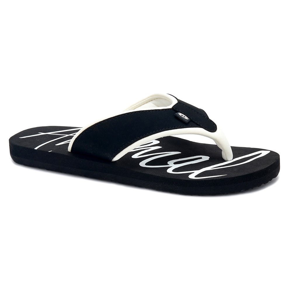 Animal Womens Swish Logo Flip Flops  - Black