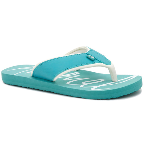 Animal Womens Swish Logo Flip Flops  - Canton Green