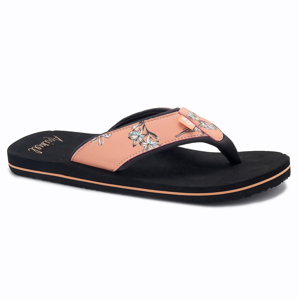Animal Womens Swish Upper AOP Flip Flops  - Canyon Sunset Orange