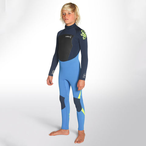 C-Skins Junior Legend 4/3 GBS Back Zip Full Wetsuit Black Ink