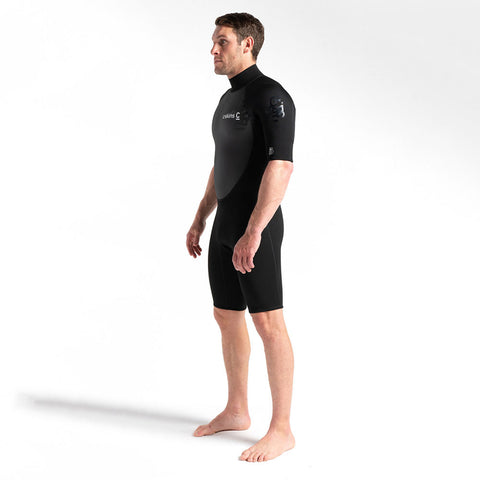 C-Skins Element 3/2mm Mens Shortie Wetsuit - Black