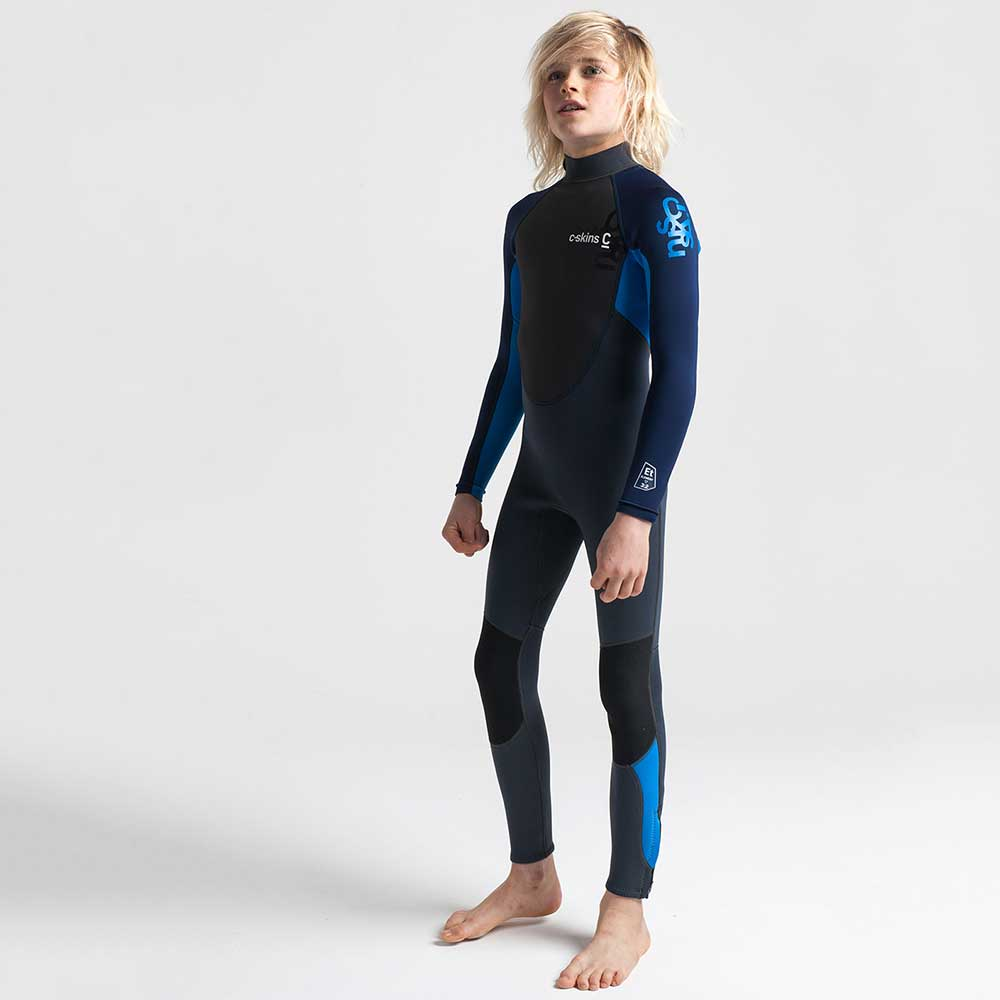 C-Skins Junior Element 3/2 Full Wetsuit - Graphite Navy