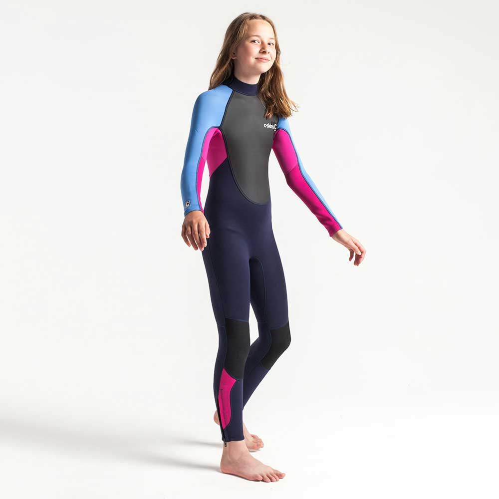 C-Skins Junior Element 3/2 Full Wetsuit - Slate Magenta.