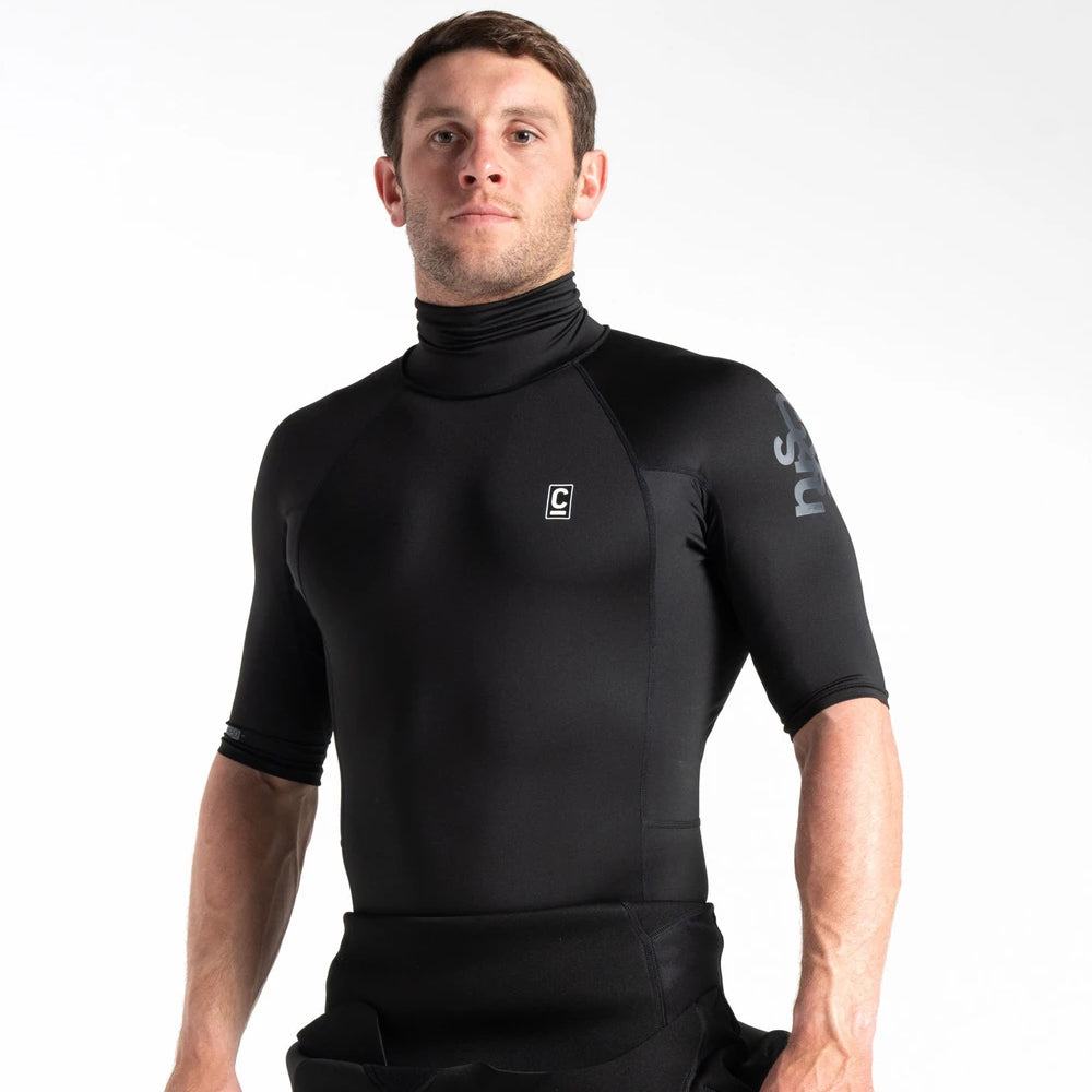 C Skins UV Skins Short Sleeved Turtle Neck Rash Vest