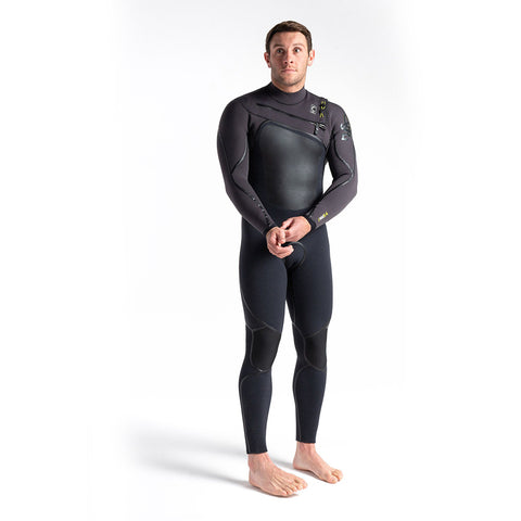 C Skins Wired 5/4mm LQS C/Z Winter Wetsuit -Black X/Meteor X/Lime
