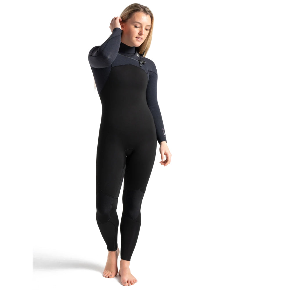CSkins Womens ReWired 3/2 Chestzip Wetsuit - Raven Black