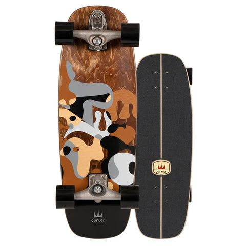 "Carver Skateboards 27.5"" Grey Ray With C7"