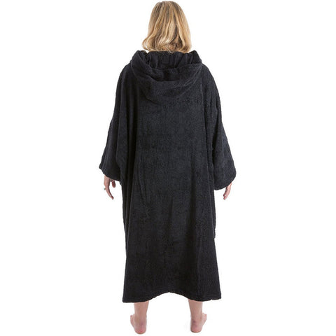 Dryrobe short sleeved towelling Robe Black Small