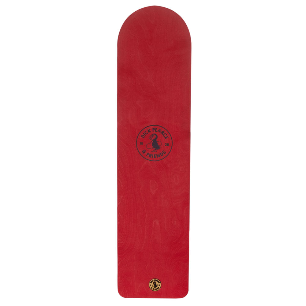 Dick Pearce and Friends Surfrider Painted Belly Board Puffin Red