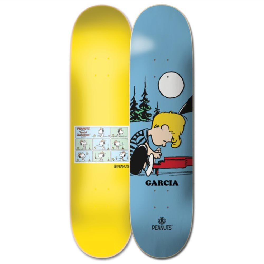 Element Peanuts Schroeder x Nick  8.25 Skateboard Deck