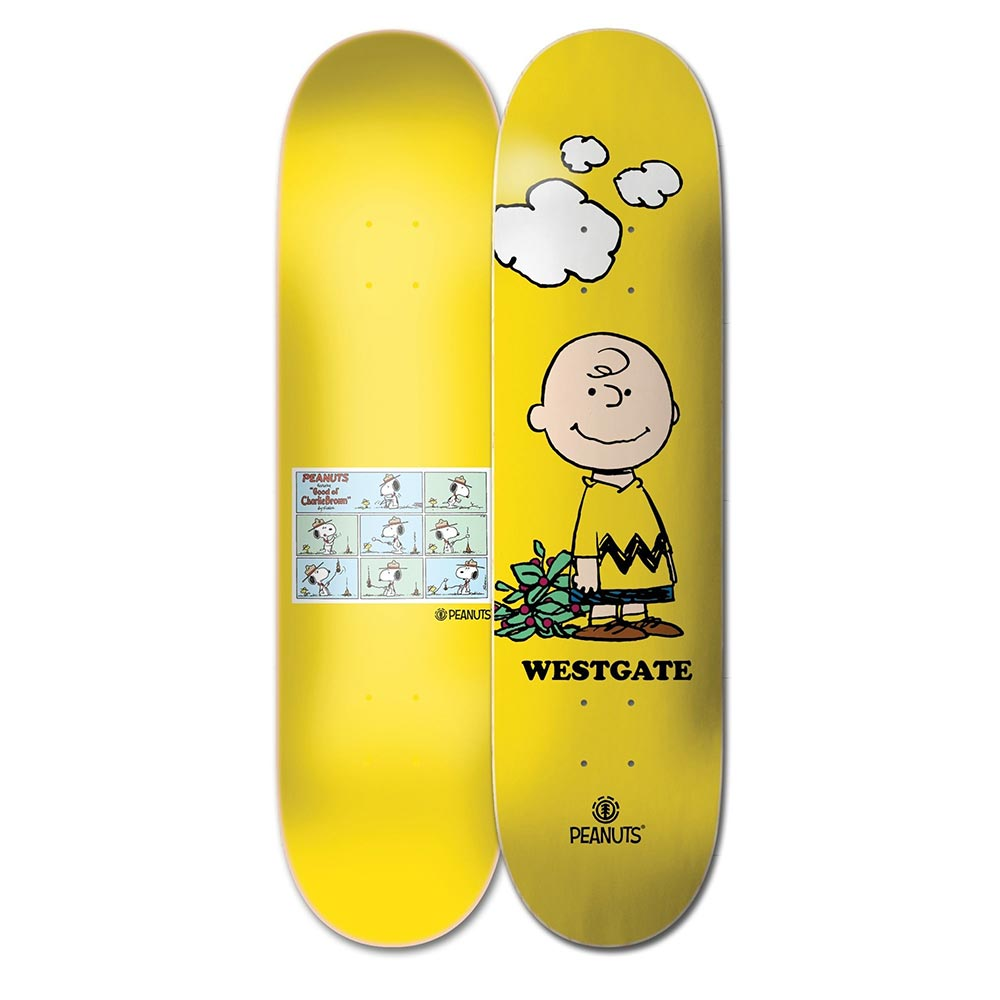 Element Peanuts Charlie Brown x Wes 8 Skateboard Deck