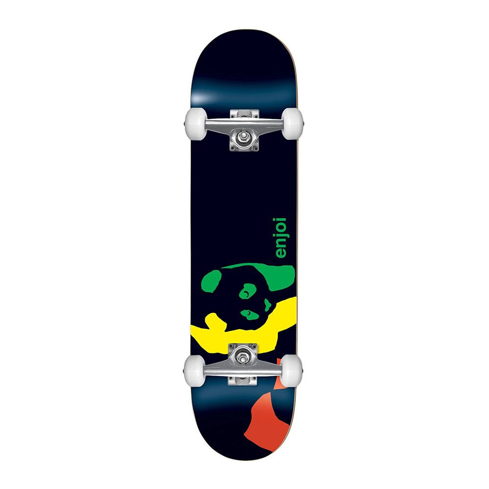 "Enjoi Rasta Panda Youth 7"" Complete Skateboard - Black"