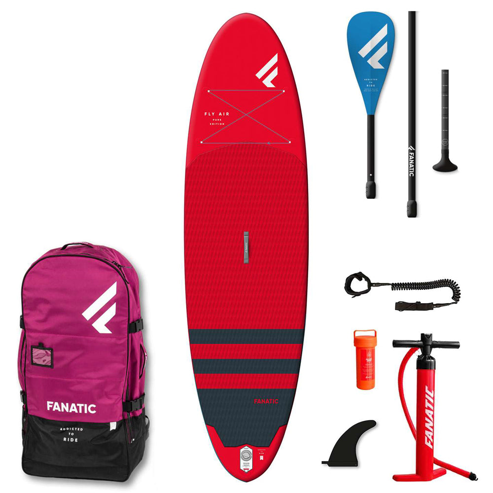 Fanatic 10'4 Fly Air Pure SUP Red Package - Inc Paddle