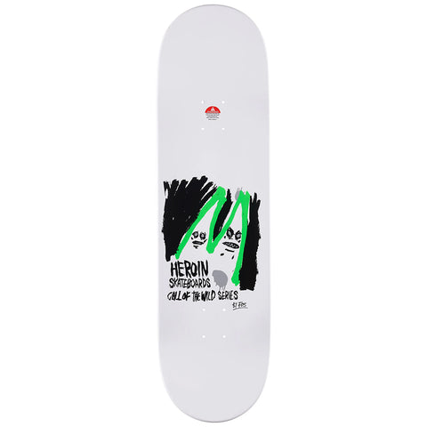 Heroin Frank Shaw Call of the Wild Skateboard Deck 8.75""