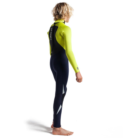 C-Skins Jnr Legend 5/4/3mm BZ Winter Wetsuit-Slate/Green/Silver
