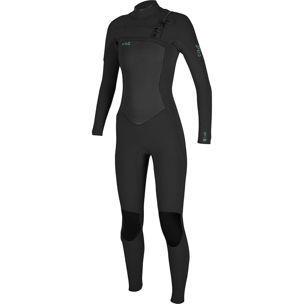 O'Neill Womens Epic 4/3mm Chest Zip Wetsuit - Black