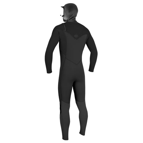 O'Neill Hyperfreak 4/3+mm C/Z Full Wetsuit With Hood - Black/Black