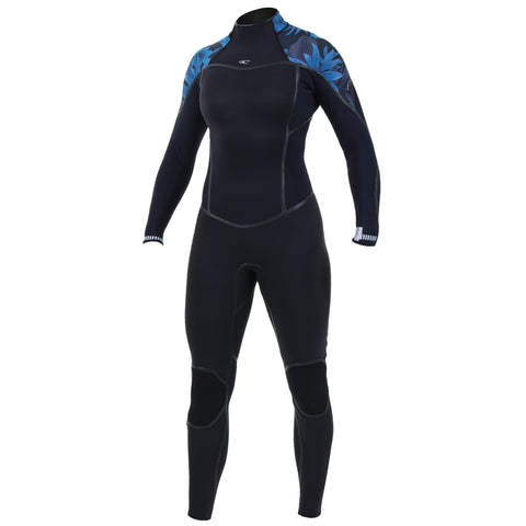 O'Neill Womens Psycho One 3/2mm BZ Wetsuit -Black/Blue Faro/Abyss