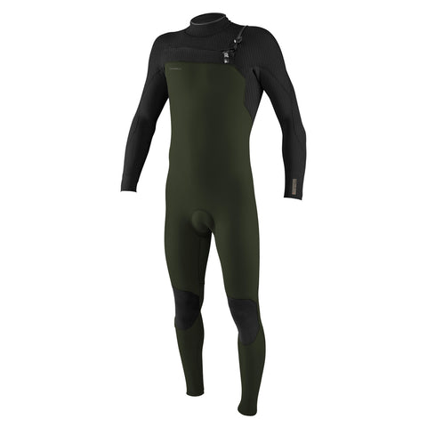 O'Neill Hyperfreak 4/3+mm C/Zip Full Wetsuit - Ghostgreen/Black