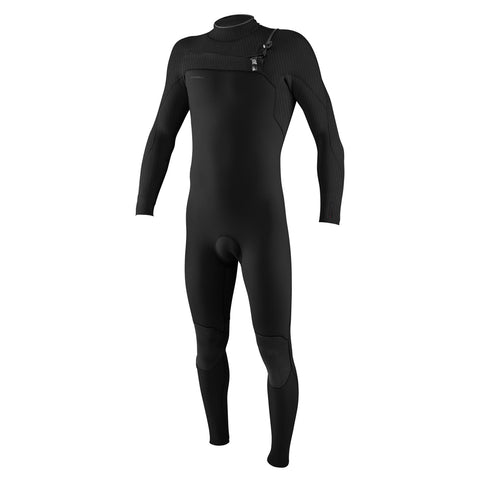 O'Neill Hyperfreak 5/4mm Chest Zip Winter Wetsuit - Black/Black