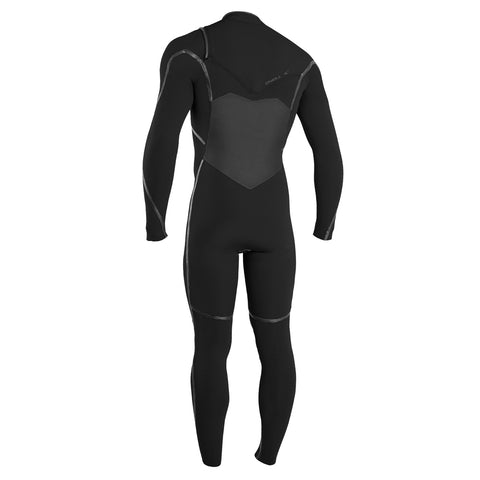 O'Neill Psycho Tech 4/3mm Chest Zip Full Wetsuit - Black/Black
