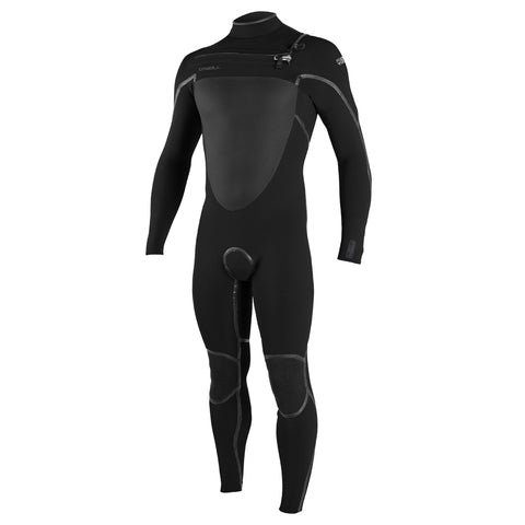 O'Neill Psycho Tech 5/4+mm Chest Zip Winter Wetsuit - Black/Black