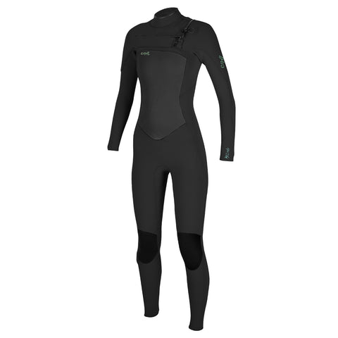 O'Neill Womens Epic 5/4mm Chest Zip Winter Wetsuit - Black/Black