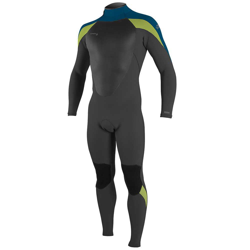 O'Neill Epic 3/2mm Back Zip Full Wetsuit - Black/Ultrablue/Dayglo