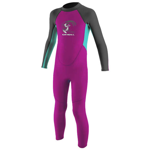 O'Neill Toddler Reactor2 2mm B/Z Wetsuit - Berry/Aqua/Graphite