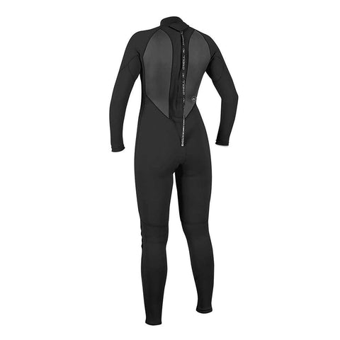 O'Neill Womens Reactor-2 3/2mm Back Zip Wetsuit - Black/Black