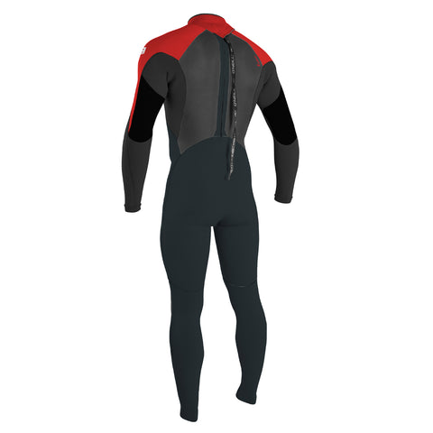 O'Neill Youth Epic 5/4 BZ Winter Wetsuit - Gunmetal/Black/Red/Red