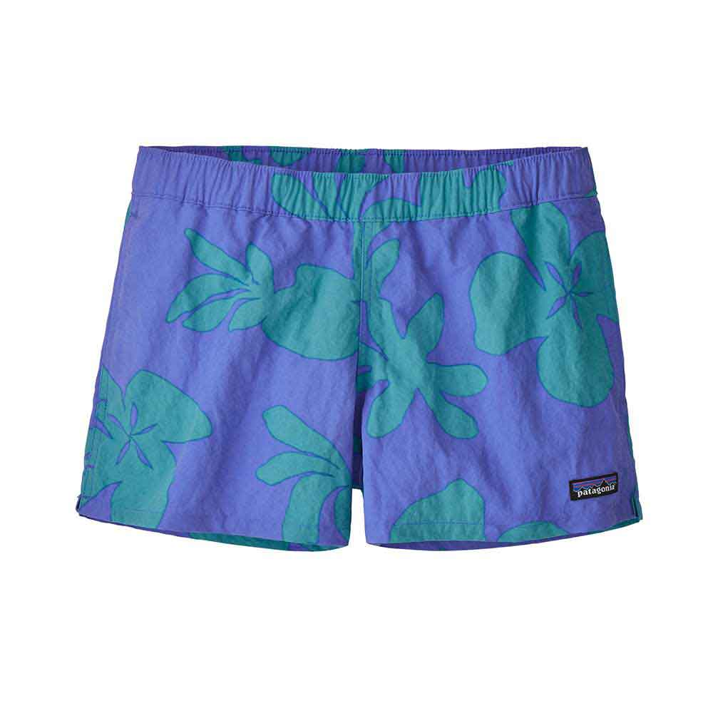Patagonia Womens Barely Baggies Shorts  - Kalani Big: Float Blue
