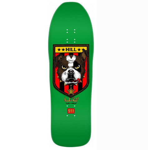 Powell Peralta Frankie Hill Bull Dog Skateboard Deck - Green