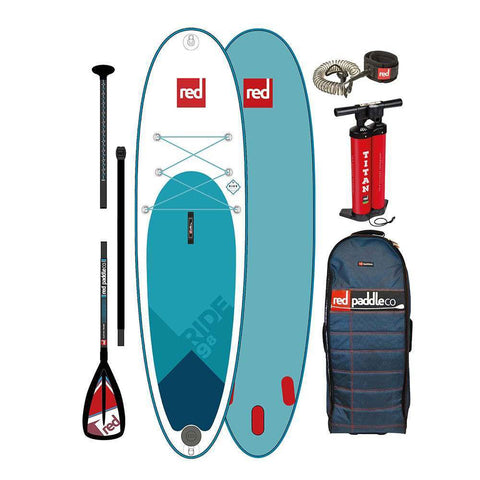 Red Paddle Ride 9'8 Inflatable Paddle Board -2020 with Carbon 50 Paddle